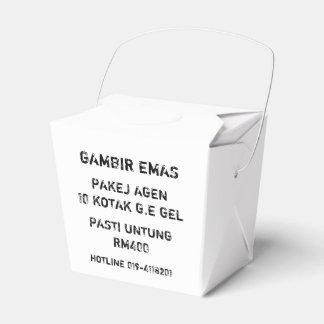 G.E WEDDING FAVOUR BOX