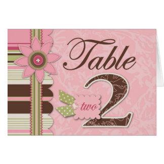 G Girl Table Card 2