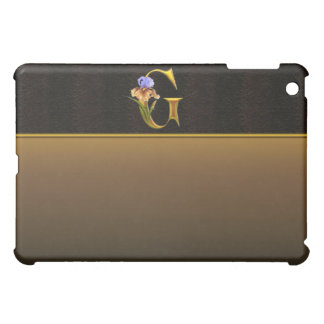 G Gold Iris Monogram  iPad Mini Cover