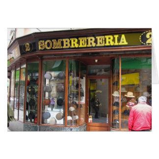 g/nc Barcelona Sombrereria Card