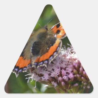 G_red_admiral_001 Triangle Sticker