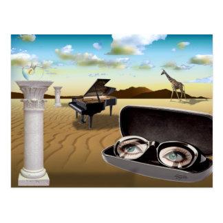 G Sharp - Surrealism by Cheryl Daniels Postcard