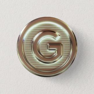 G - Vegan letters 3/5 3 Cm Round Badge