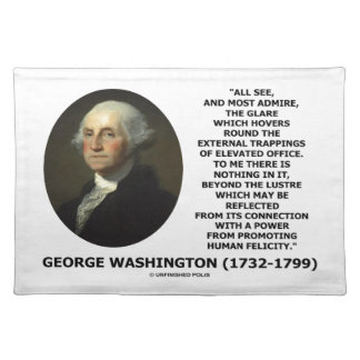 G. Washington External Trappings Elevated Office Placemat