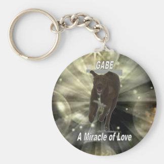 Gabe Miracle Key Ring Basic Round Button Key Ring