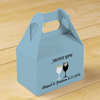 Gabled Wedding Favor Box
