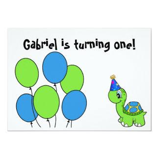 Gabriel's 1st Birthday 13 Cm X 18 Cm Invitation Card