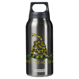 Gadsden Flag Coiled Snake Insulated Water Bottle