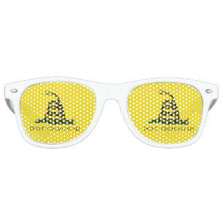 Gadsden Flag - Don't Tread On Me -  Coiled Snake Retro Sunglasses