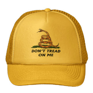 GADSDEN FLAG DON'T TREAD ON ME Tea Party Snake USA Cap