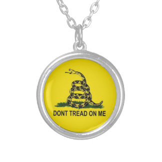 Gadsden Flag Silver Plated Necklace