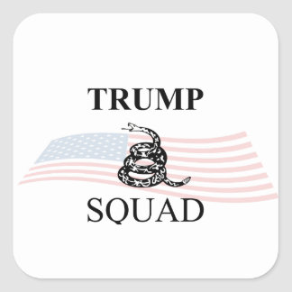 Gadsden Trump Squad Flag Square Sticker