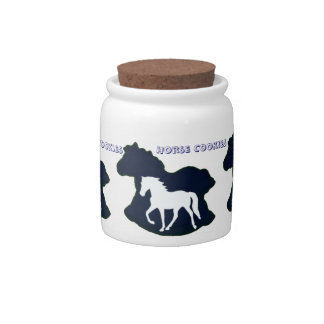 Gaited Horse Candy Container Candy Jar