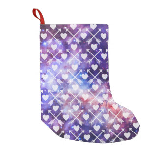 Galactic Tribal Hearts and Arrows Small Christmas Stocking