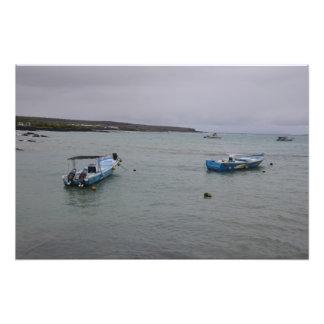 Galapagos - At anchor in Port Ajora Photographic Print