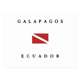 Galapagos Ecuador Dive Flag Postcard