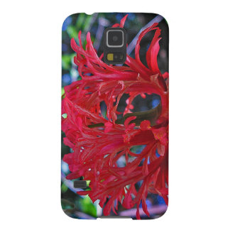 "Galaxy 5s - ""Lady in Red"" Flower Design Galaxy S5 Covers"