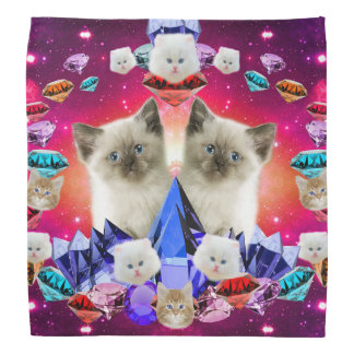 galaxy cat in diamond do-rags