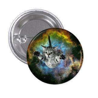 Galaxy Cat Universe Kitten Launch 3 Cm Round Badge