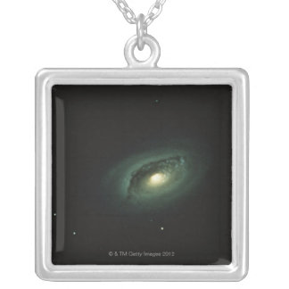 Galaxy in Coma Berenices Silver Plated Necklace