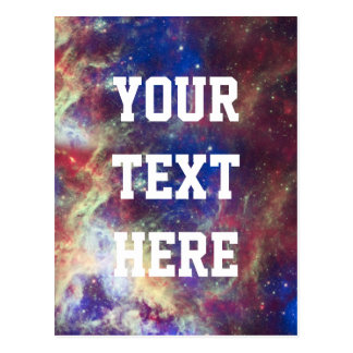 Galaxy Nebula Personalized Astronomy Space Postcard
