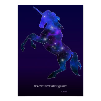 Galaxy pink beautiful unicorn sparkly image poster