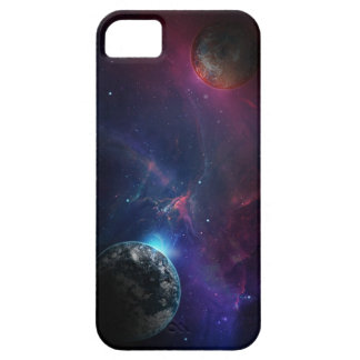Galaxy Planets Purple and Blue Space Phone Case