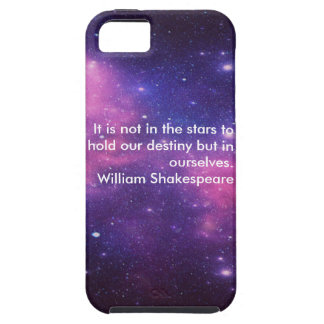 Galaxy Print Apple iPhone 5/5s Case W/Quote