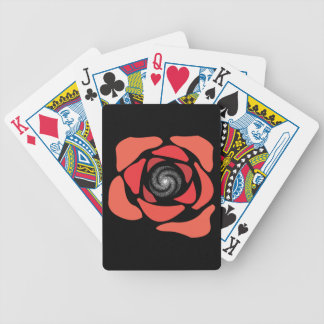 Galaxy Rose Bicycle Playing Cards