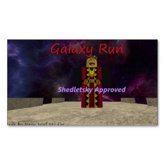 Galaxy Run Magnetic Business Card