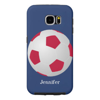 Galaxy S6 Tough Case Soccer, Red, White, and Blue