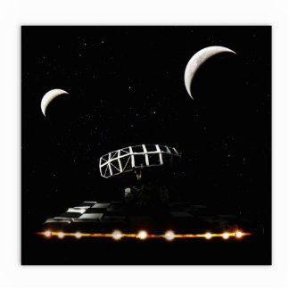 Galaxy Scanner - Radar Space Craft - Sci-Fi Standing Photo Sculpture