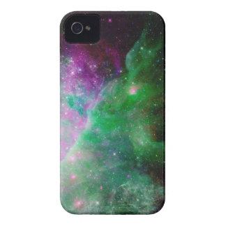 Galaxy Stars Space Green Purple iPhone 4 Case