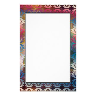 Galaxy Tribal Pattern Space Aztec Andes Ethnic Stationery