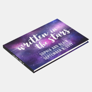 Galaxy Wedding | Written In The Stars Personalized Guest Book