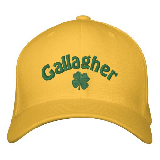 Gallagher  - Four Leaf Clover Embroidered Hats
