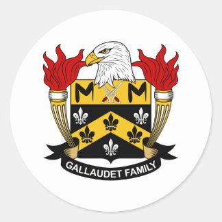 Gallaudet Family Crest Round Sticker