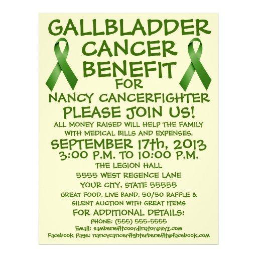 Gallbladder Cancer Benefit Cartoon Flyer