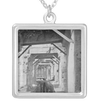 Galleries on the ground floor and the first silver plated necklace