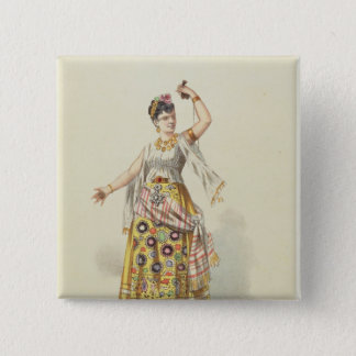 Galli Marie in the role of Carmen 15 Cm Square Badge