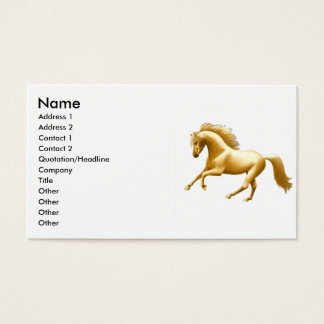 Galloping Golden Horse Business Card