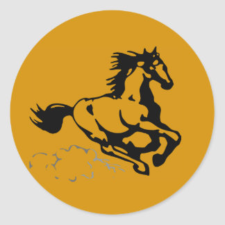 Galloping Horse Wild and Free Classic Round Sticker