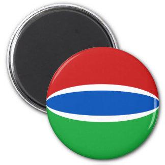 Gambia Fisheye Flag Magnet
