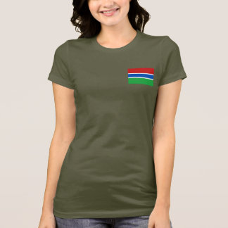 Gambia Flag and Map dk T-Shirt
