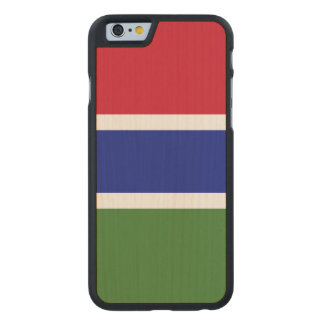 Gambia Flag Carved Maple iPhone 6 Case