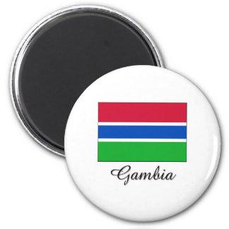 Gambia Flag Design Magnet