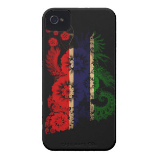 Gambia Flag iPhone 4 Case-Mate Cases