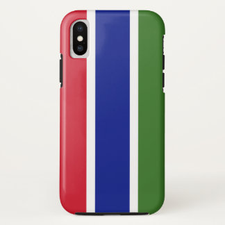 Gambia Flag iPhone X Case