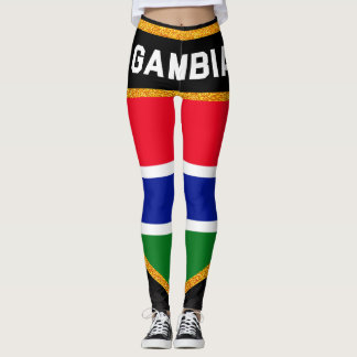 Gambia Flag Leggings