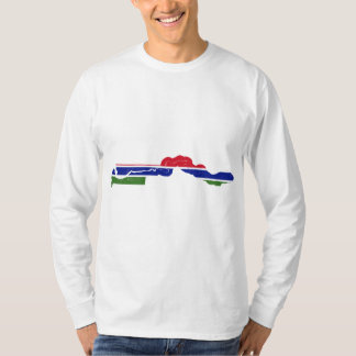 Gambia Flag Map GM T-Shirt